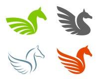 Set of various pegasus Stock Image
