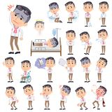 Producer middle men_sickness. Set of various poses of producer middle men_sickness Royalty Free Stock Photography