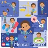 School boy Black_Mental & volition Royalty Free Stock Photos