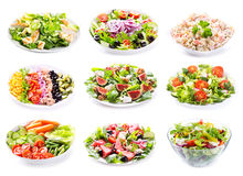 Set of various salads Royalty Free Stock Image