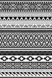 Aztec and Amazon ethnic patterns. Set of 12 items. Set of 12 various seamless brush ornaments in Aztec and Amazon styles vector illustration