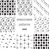 Set of various of seamless patterns Stock Photos