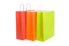 Set of various shopping bags Royalty Free Stock Images