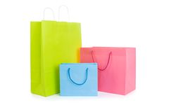 Set of various shopping bags Stock Images