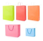 Set of various shopping bags Stock Photo