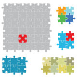 Various sizes of puzzles Stock Image