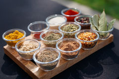 Set of various spices Stock Image