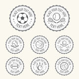 Set of various sport badge, label, emblem, icon in vector Royalty Free Stock Images