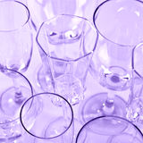 Various stemmed glasses Royalty Free Stock Image