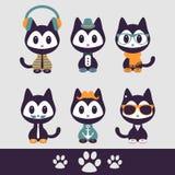 Set of various stylish kittens Royalty Free Stock Image
