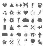 Set of various symbols. And icons for web and eCommerce stock illustration
