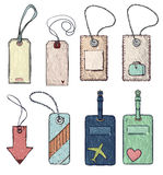 Set of various tags. vector illustration Stock Images