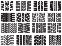 Set of various tire treads. Vector illustration of the Set of various tire treads Stock Image