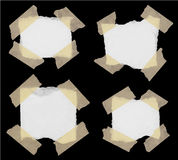 Set of various torned note papers Royalty Free Stock Image