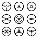 Set of various types of car wheel icons Stock Image