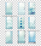 Set of Various Types of Contemporary Glass Doors Royalty Free Stock Images
