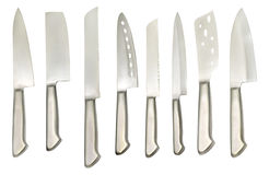 Set with various types of knives Royalty Free Stock Photography