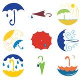 Set of various umbrellas Stock Photo