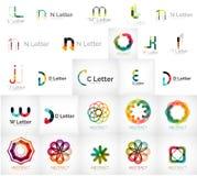 Set of various universal company logos Royalty Free Stock Photo