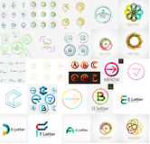 Set of various universal company logos Stock Photography