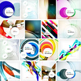 Set of various universal geometric layouts - Stock Photos
