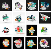 Set of various universal geometric layouts Stock Photography