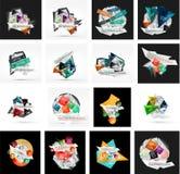 Set of various universal geometric layouts Stock Photography