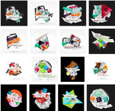 Set of various universal geometric layouts Royalty Free Stock Photos