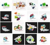 Set of various universal geometric layouts Royalty Free Stock Image