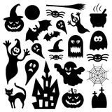 Set of various vector halloween design elements. Stock Image Royalty Free Stock Photo