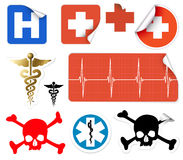 Set of various vector medical symbols Stock Photo