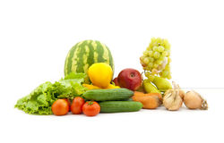 Set of various vegetables and fruit Royalty Free Stock Photo
