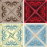 Set of various vintage seamless patterns. In curve EPS 10 Stock Photo