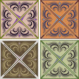 Set of various vintage seamless patterns Royalty Free Stock Photography