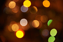 Set of various warm bokeh Royalty Free Stock Photos