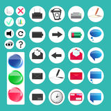 Set of various web and computer icons - Illustration Stock Photos