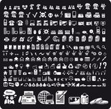 Set of 210 various web icons. Stock Image