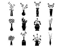 Set of Vase Vector Illustration Royalty Free Stock Photo