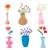 Set of vases Stock Image
