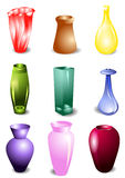 Set of vases Stock Photography