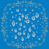 set vatten för droppe Arkivbild