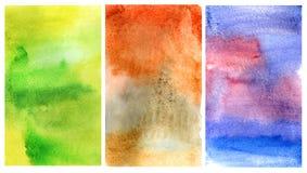 set vattenfärg för bakgrund Arkivbilder