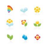 set väder för trädgårds- symbol Royaltyfri Bild