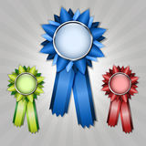 Set of vecor prize ribbons Royalty Free Stock Photography