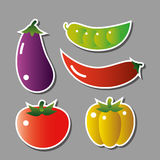 Set of vecor vegetables Royalty Free Stock Photos