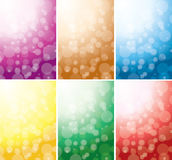 Set of vector abstract backgrounds with bokeh. Set of abstract color backgrounds with bokeh - eps 10 Royalty Free Stock Images