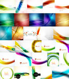 Set of Vector Abstract Backgrounds. Brochures or Flyer Templates Stock Images