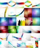Set of Vector Abstract Backgrounds Royalty Free Stock Photos