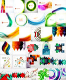 Set of Vector Abstract Backgrounds. Brochures or Flyer Templates Royalty Free Stock Images
