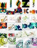Set of Vector Abstract Backgrounds vector illustration